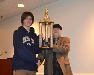2015 High School Champion, Carter Peatman, with Chief TD Greg Maness