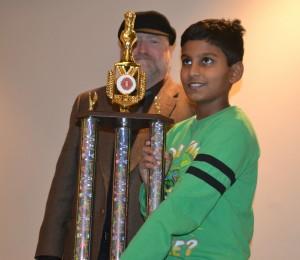 5th grader Pranav Koushik with Chief TD Greg Maness