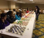 Giving a Chess Simjul at the High school nationals Hyatt april 2016