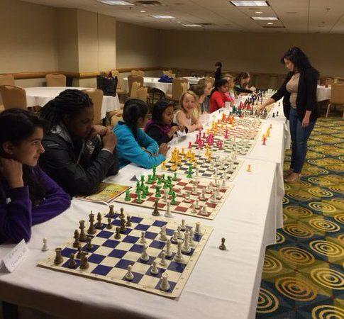 Giving a Chess Simjul at the High school nationals Hyatt april 2016
