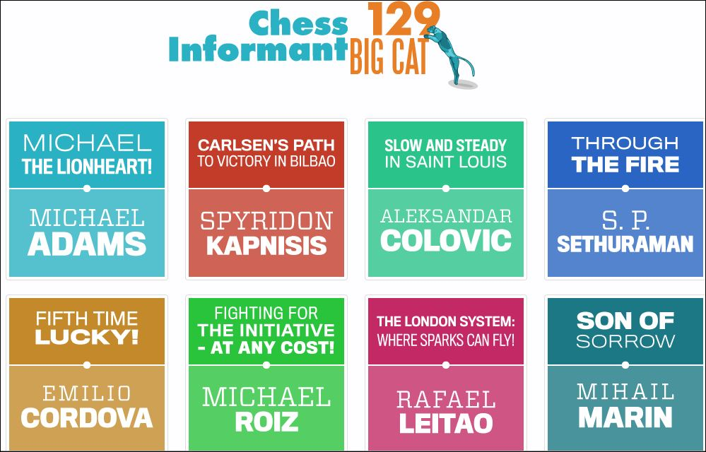 Chess Informant Issue 129 Big Cat Georgia Chess News